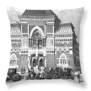 Philadelphia: Museum, 1876 Throw Pillow