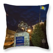 Philadelphia Museum Of Art Throw Pillow