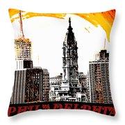 Philadelphia Poster Throw Pillow