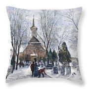 Philadelphia: Winter, 1873 Throw Pillow