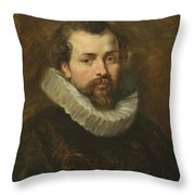 Philippe Rubens - The Artist's Brother Throw Pillow by Peter Paul Rubens