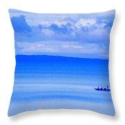 Philippine Sea Sunrise Throw Pillow