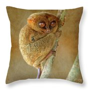 Philippine Tarsier Throw Pillow
