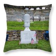Phillies Harry Kalas' Grave Throw Pillow