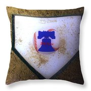 Phillies Home Plate Throw Pillow by Bill Cannon