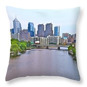 Philly By Water Throw Pillow