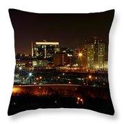 Philly Night Panoramic Throw Pillow
