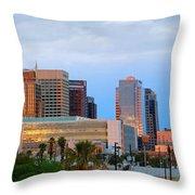 Phoenix Skyline At Dusk Throw Pillow