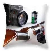 Photography Gear Throw Pillow