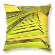 Piano Impressions Throw Pillow