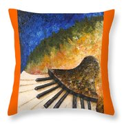 Piano Jazz Throw Pillow