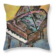 Piano Study 2 Throw Pillow