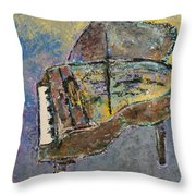 Piano Study 3 Throw Pillow