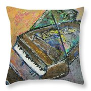 Piano Study 4 Throw Pillow
