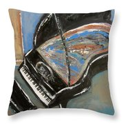 Piano With Spiky Heel Throw Pillow