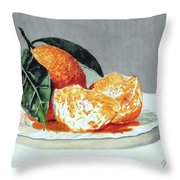 Piatto Con Arance Throw Pillow