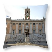 Piazza Del Campidoglio. Capitoline Hill. Rom Throw Pillow