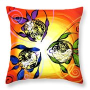 Picasso Fish Three Throw Pillow