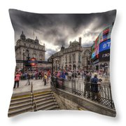 Piccadilly Circus - London Throw Pillow
