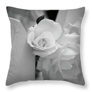 Picket Rose Throw Pillow
