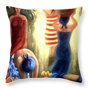 Picking Cacao Pods Throw Pillow