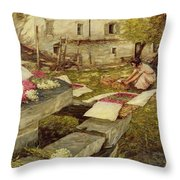 Picking Stocks Throw Pillow