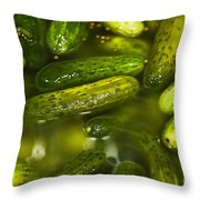 Pickle Barrel Throw Pillow