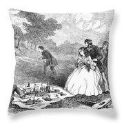 Picnic, 1859 Throw Pillow