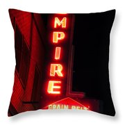 Picture Of Empire Tavern And Liquors Sign Fargo Nd Throw Pillow