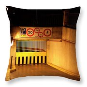 Picturesque Parking Throw Pillow