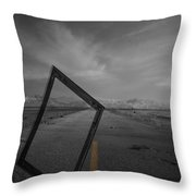 Picturing The Road Ahead Throw Pillow by Empty Wall