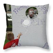 Pie Tossing 02 Throw Pillow