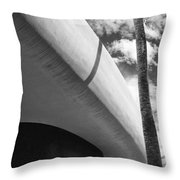 Piece Of The Sky  Bw Throw Pillow