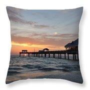 Pier 60 Clearwater Beach Florida Throw Pillow