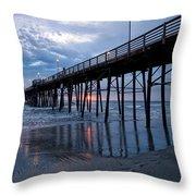 Pier At Sundown Throw Pillow