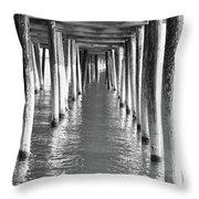 Pier In Throw Pillow