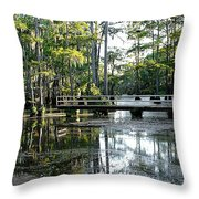 Pier In The Swamp Throw Pillow