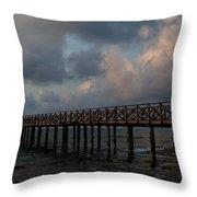 Pier Into Dawn Throw Pillow