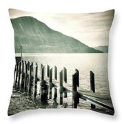 Pier Throw Pillow by Joana Kruse