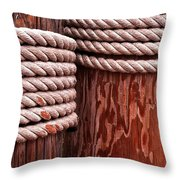Pier Ropes Throw Pillow