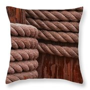 Pier Ropes II Throw Pillow
