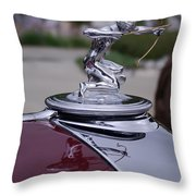 Pierce Arrow Hood Ornament Throw Pillow