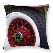 Pierce Arrow Wheel Throw Pillow