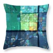 Piercing Geo Green Throw Pillow