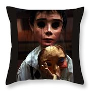 Pierrot Puppet Throw Pillow