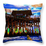 Pierscape Throw Pillow
