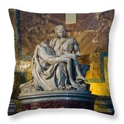 Pieta By Michelangelo Circa 1499 Ad Throw Pillow