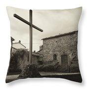 Pieve Di Santa Maria Alla Sovarra Throw Pillow