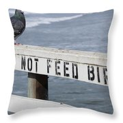 Pigeons Cannot Read Throw Pillow