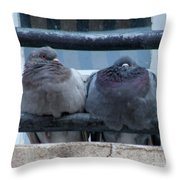 Pigeons Perching Throw Pillow